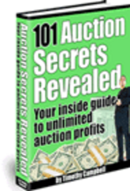 Product picture Insiders Guide To Unlimited Auction Profits!