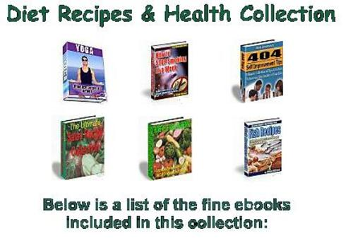 Product picture Diet Recipes & Health Collection eBooks
