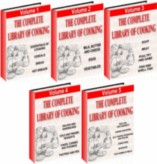Product picture The Complete Library Of Cooking!   5 volume set.